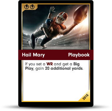Dynasty Football Card - Hail Mary