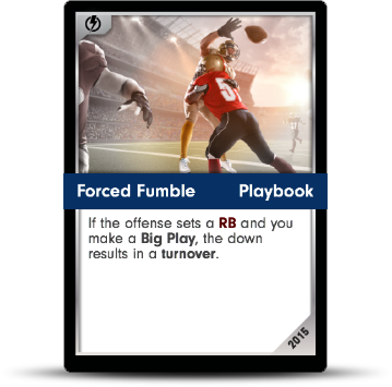 Dynasty Football Card - Forced Fumble
