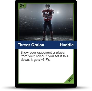 Dynasty Football Card - Threat Option